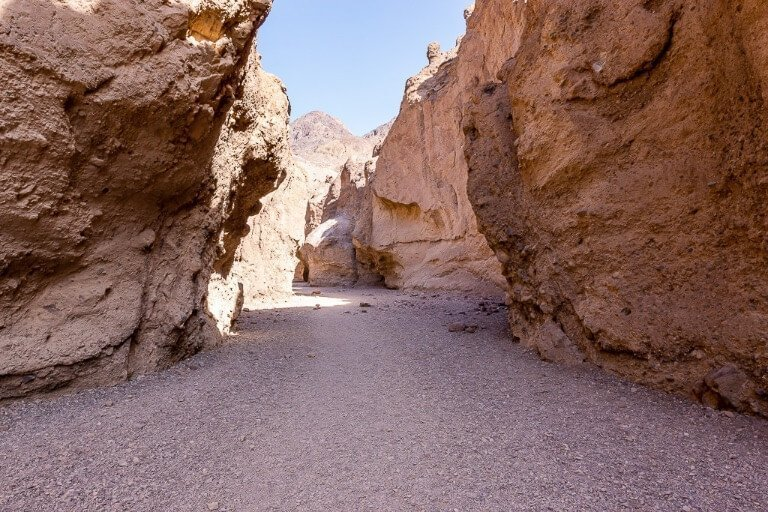 Hike through tunnel to natural bridge Death Valley things to do in one day