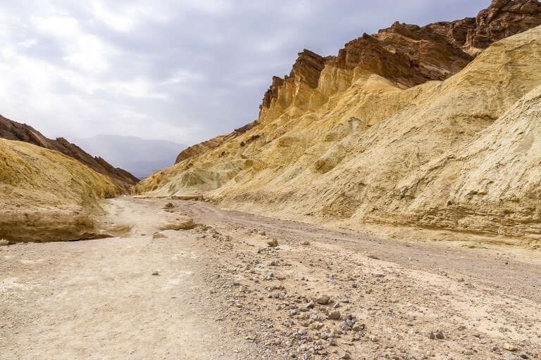 Hiking trail in Death Valley California day trip from Las Vegas