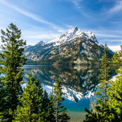 Grand Teton national park Jenny Lake Mountain reflection