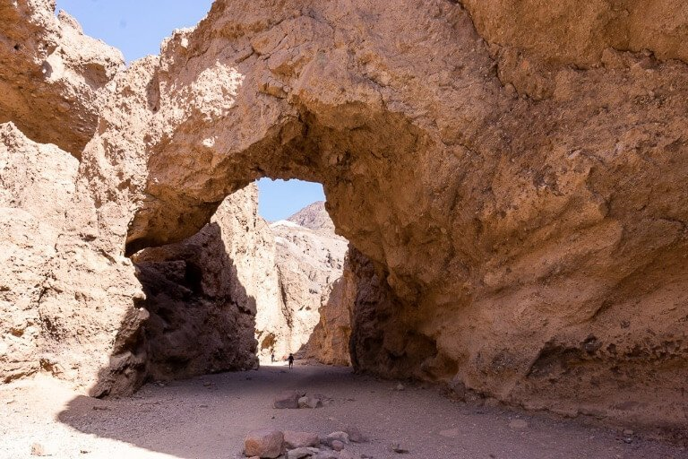 Natural bridge Death Valley hike trail things to do in one day California national park