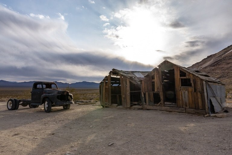 Rhyolite ghost town California