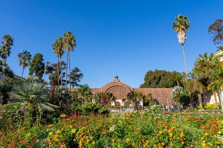 San Diego Botanic Building Balboa Park flowers