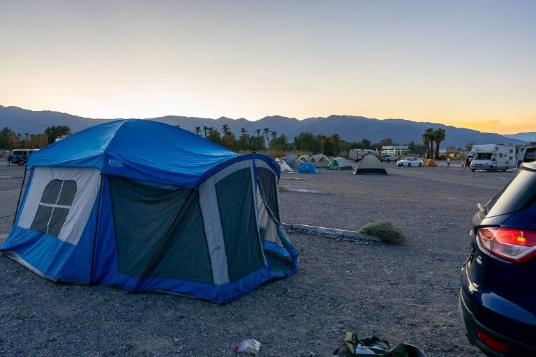 Sunset campground Death Valley national park