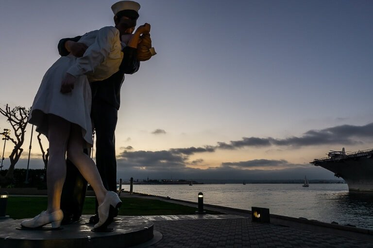 Statue of Unconditional Surrender San Diego Embarcadero
