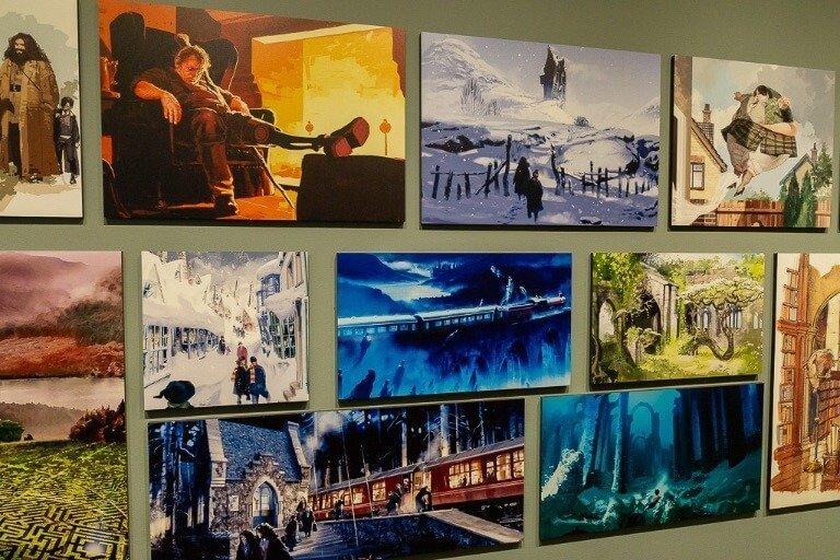 Warner Bros studio tour Harry Potter storyboard in exhibit of potterverse