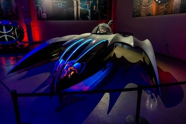 Old Batmobile to combat Mr Freeze in Batman and Robin
