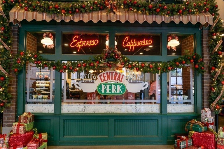 Central Perk set full size at movie studio in Hollywood