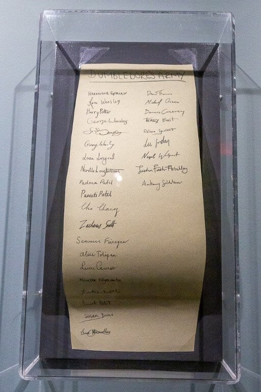 Signatures of all actors who played Dumbledores army in Harry Potter