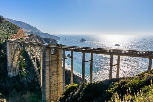 California Pacific Coast Highway 1 road trip from San Francisco to San Diego