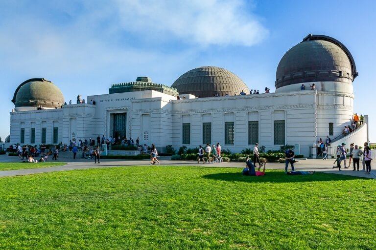 Griffith Observatory Awesome things to do in Los Angeles fantastic museum and planetarium with views over hollywood sign and city