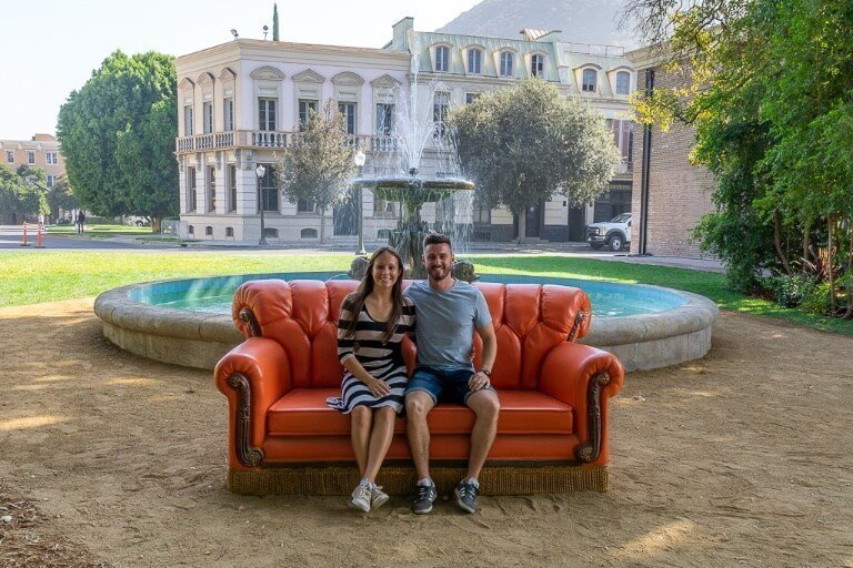 Warner Bros studio tour is worth checking out when visiting Los Angeles and Hollywood friends sofa with mark and kristen
