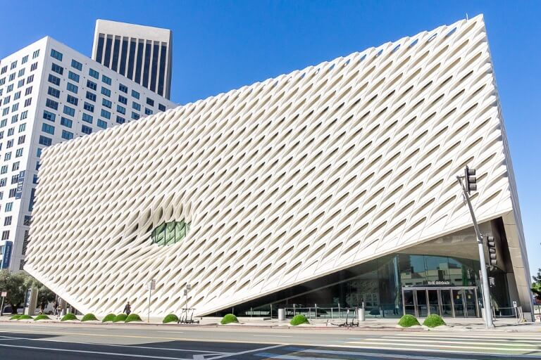 The Broad in Los Angeles downtown art gallery modern