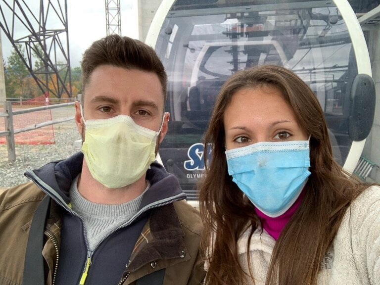 Mark and Kristen where are those morgans wearing masks on the whiteface mountain gondola in lake placid NY travel during coronavirus requirement