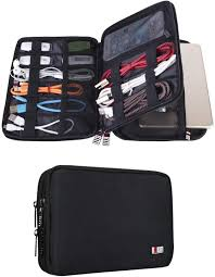 One of the all time best gifts for a traveler is a good quality electronics organizer for storing cables gadgets iPads and so much more