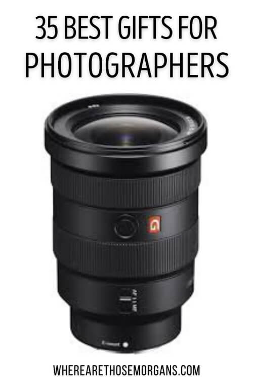 35 best gifts for photographers where are those morgans pinterest graphic for top photographer gift ideas