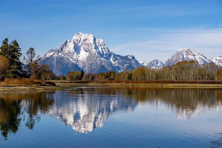 Oxbow bend reflection photography in the tetons