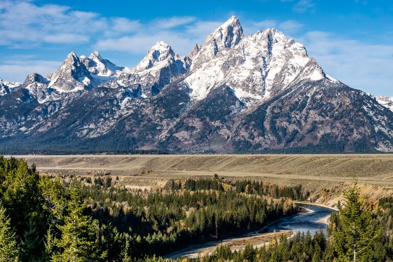 Snake river overlook one of best photography locations inside grand teton national park