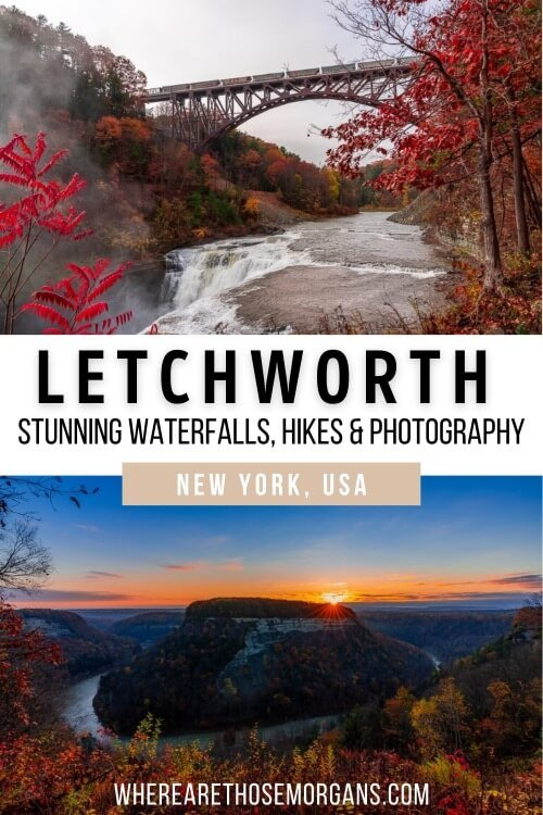 Letchworth State Park Stunning Waterfalls Hikes and Photography New York USA