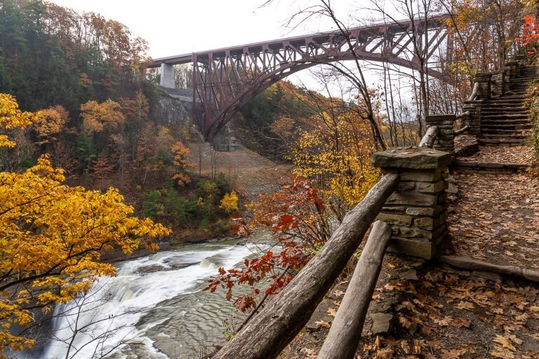 Photography tips where are those morgans stunning stone path with railroad bridge and waterfall in new york