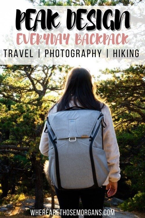 Peak Design Everyday Backpack Travel Photography and Hiking
