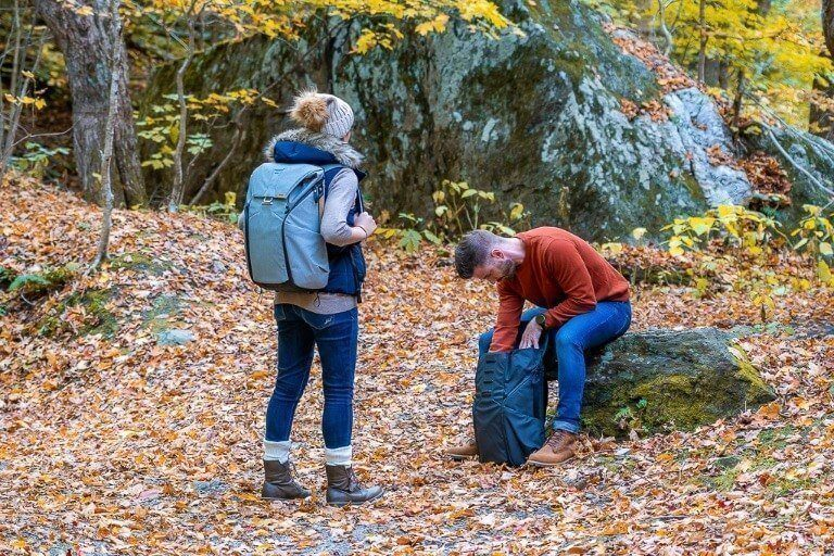 Mark and Kristen Where Are Those Morgans Peak Design Everyday Backpack Travel Camera and Hiking Bag All in One Solution