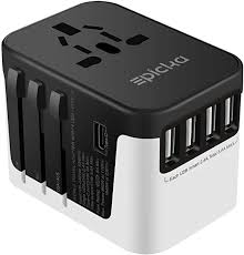 perfect gift for a traveler international plug adapter with usb ports for charging all electronic items
