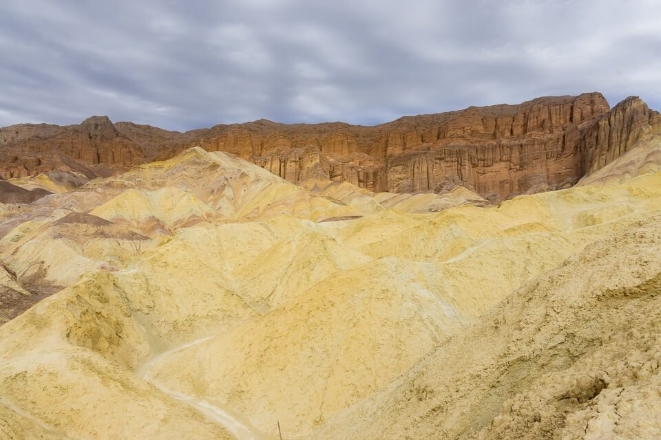 Yellow mounds Manly beacon death valley national park california