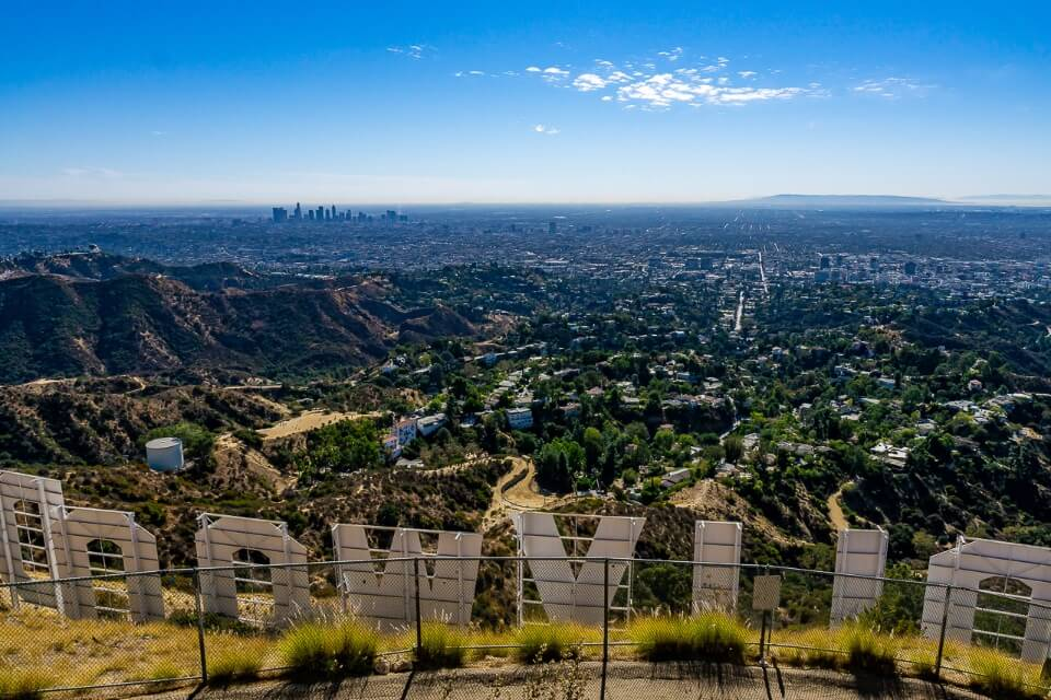 Famous pictures of america los angeles from behind the hollywood sign