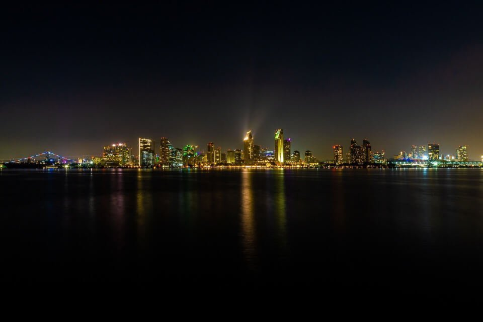 Amazing photo of san diego city line at night from coronado one of our favorite pictures from California