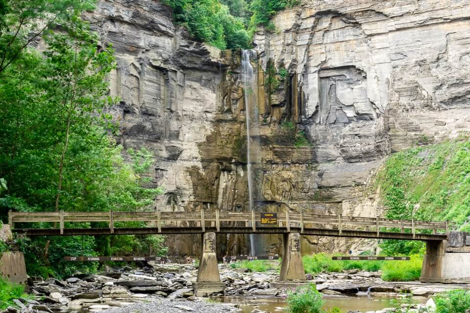 Taughannock Falls state park near ithaca new york is a lovely waterfall image
