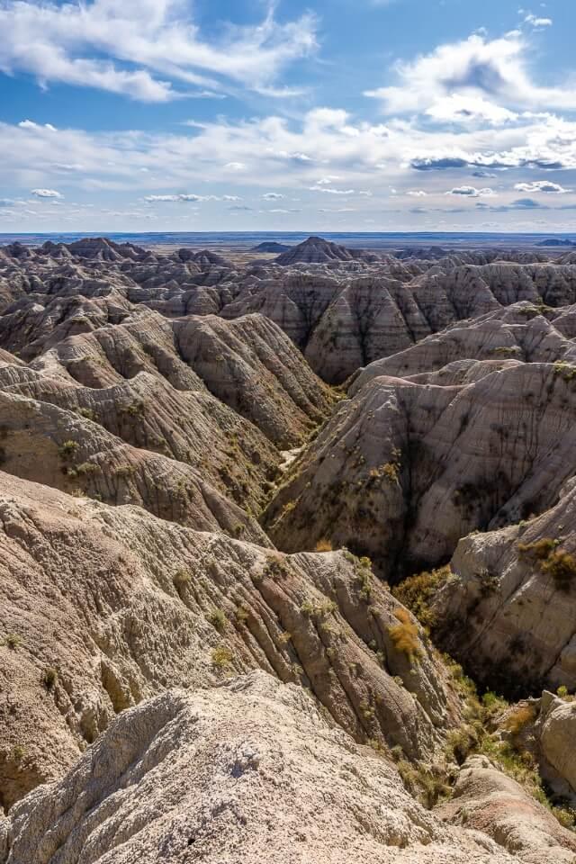 Awesome rugged rocks at badlands national park south Dakota USA