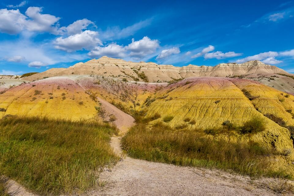 Yellow mounds is the most sought after picture of badlands national park in south dakota america stunning colors