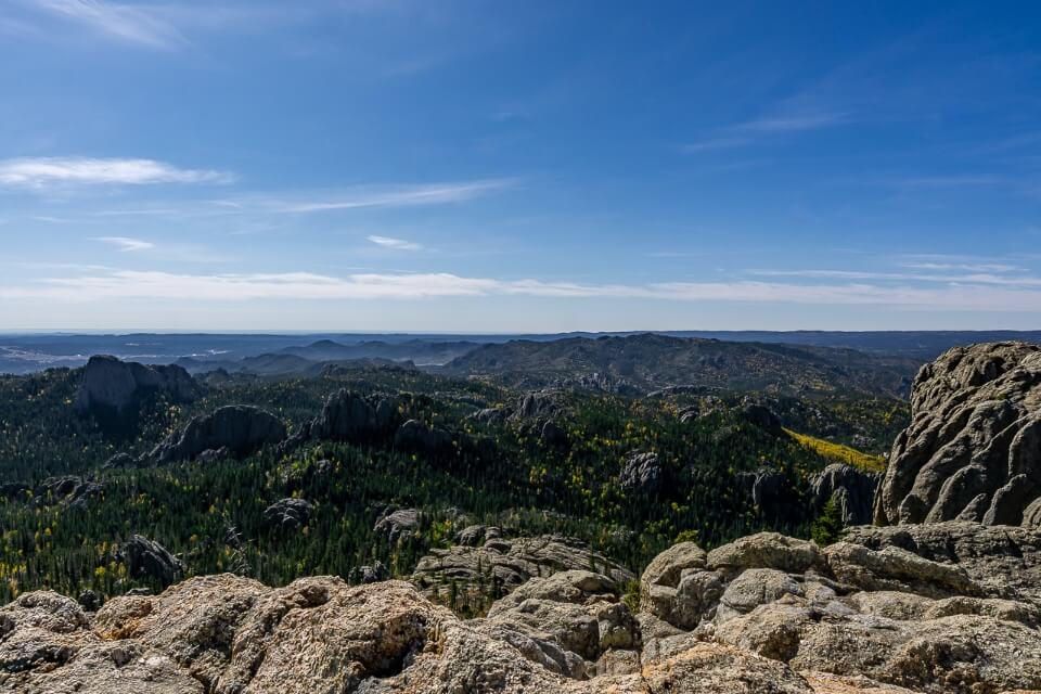 View over 4 us states from the summit of black elk peak hike in south dakota amazing pictures of america