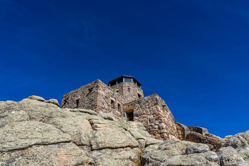 Harney watchtower at the summit of black elk peak in south dakota