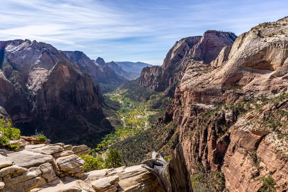 Incredible canyon view from angels landing summit zion national park utah