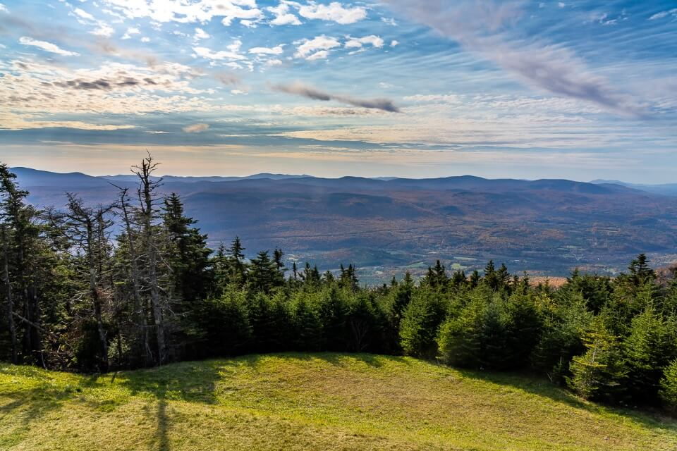 Awesome sweeping views of rolling valleys from the top of equinox mountain manchester vermont photography