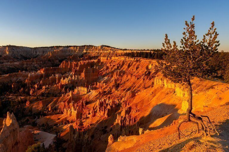 Spectacular sunrise at Bryce Canyon national park amphitheater perfect photography opportunity