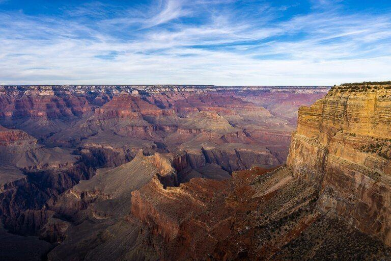 Great Mohave Wall and Grand Canyon late afternoon taken from Monument Creek Vista before sunrise