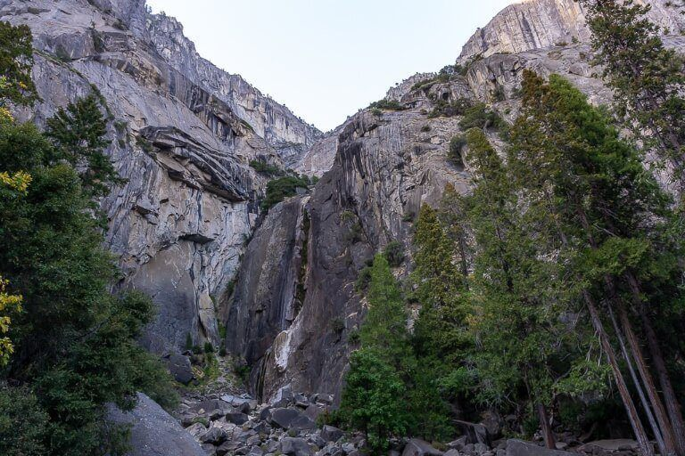 Yosemite Falls completely dry in October no water running at all Fall is not the time to visit for waterfalls in yosemite!