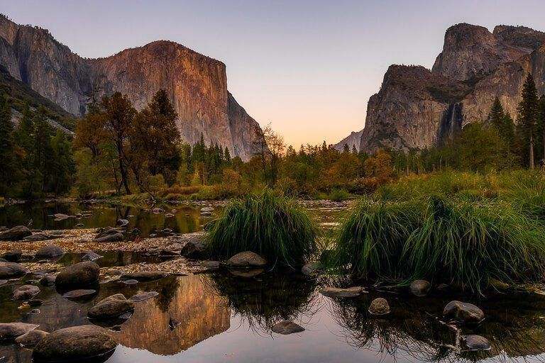 Yosemite Photography Stunning National Park photographs Valley View at sunset view over El Capitan and Yosemite Valley
