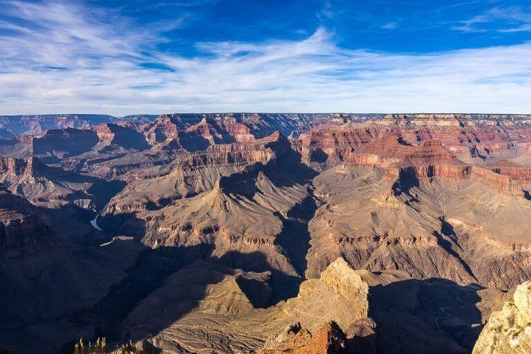 Majestic view from Pima Point in national park arizona staggering gorges and ravines