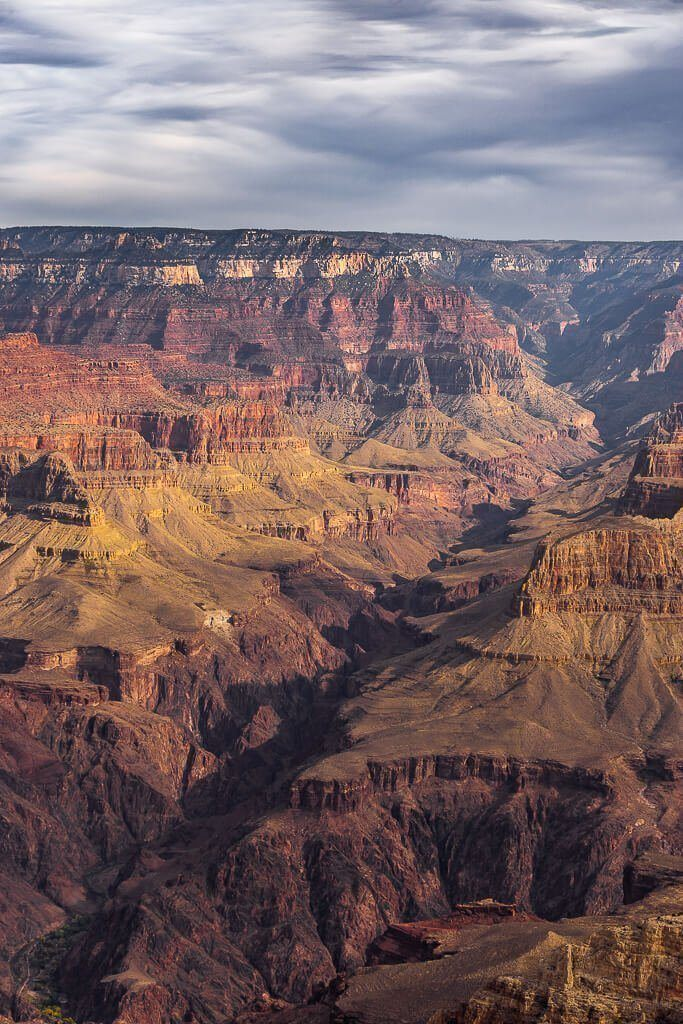 Incredible fracture in the earth at grand canyon national park south rim