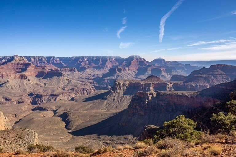 Looking to the East from South Kaibab trail and Yaki Point Stunning landscape