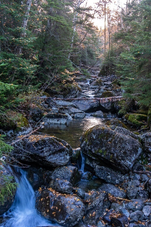 Stream and plunge pool on mount marcy hike to the highest point in new york