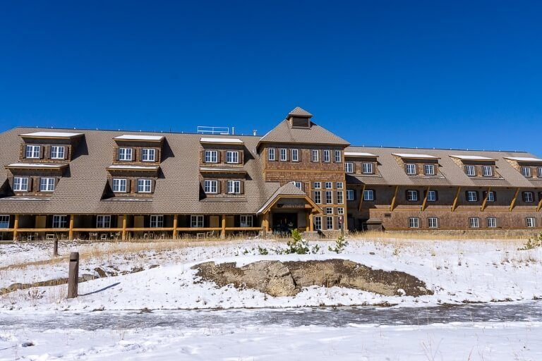 Canyon hotel lodge cabin closes in october in yellowstone national park