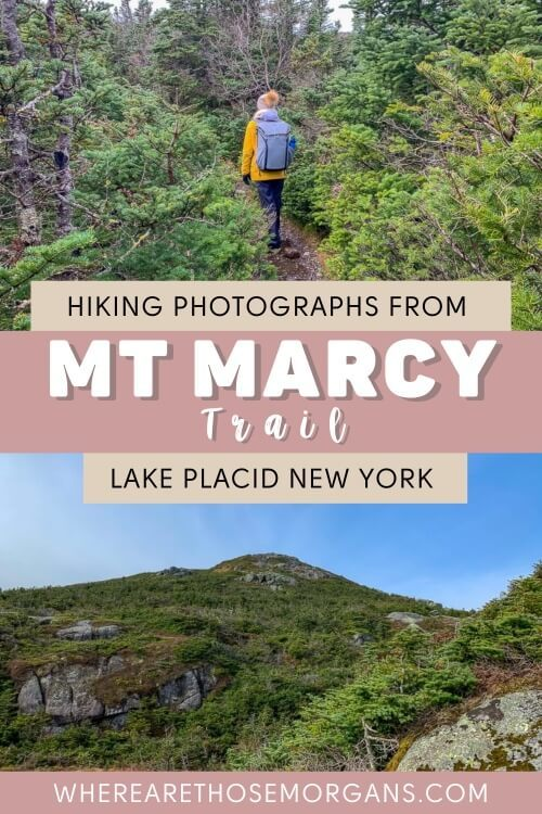 Hiking Photographs from Mt Marcy Trail Lake Placid New York