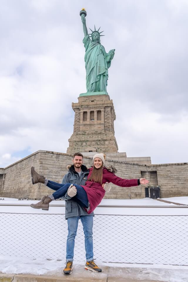 Where Are Those Morgans at the statue of liberty in new york city liberty island and ellis island ferry tour