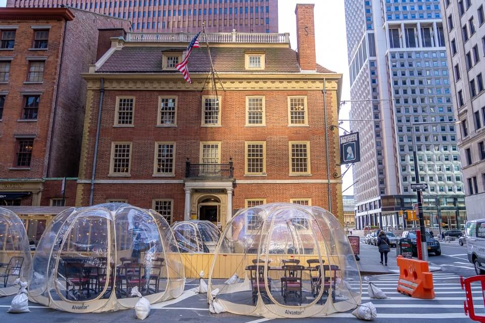 Fraunces Tavern is the perfect place to refuel after sightseeing in Lower Manhattan best things to do historic inn where george Washington thanked his men at the end of the revolutionary war