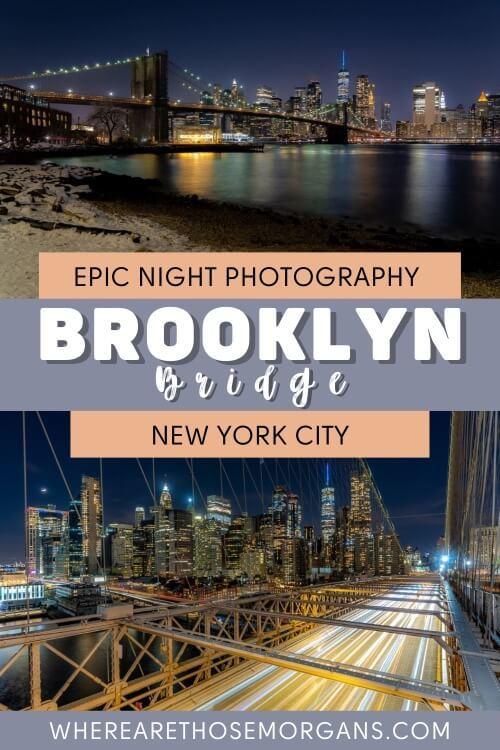 Epic night photography brooklyn bridge new york city