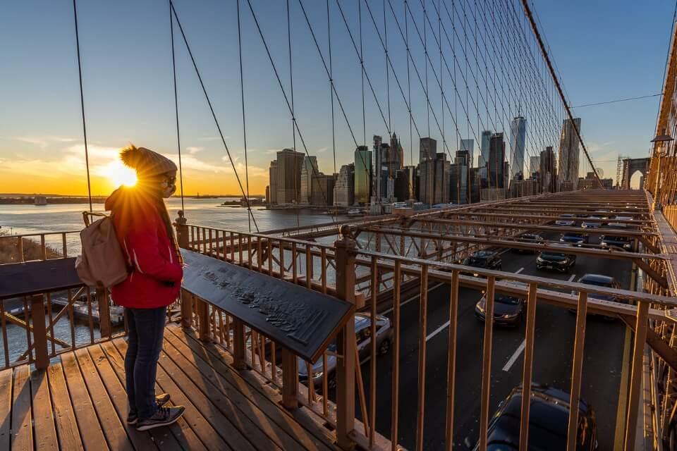 Where Are Those Morgans Sunset in New York City Manhattan Skyline